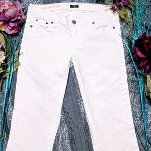 J Crew Matchstick Capri white denim Jeans Sz 28